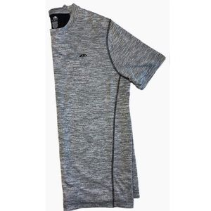 Pro Player large athletic shirt gray mesh panel L